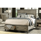 Legacy Classic Brownstone Village Queen Panel Bed with Storage Footboard 2760-4105SK