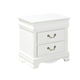 Standard Furniture Jessica Two Drawer Nightstand in White Paint 94207