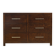 Standard Furniture Metro Drawer Dresser in Dark Merlot 87959