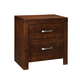Standard Furniture Metro Two Drawer Nightstand in Dark Merlot 87957