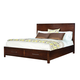 Standard Furniture Metro Queen Platform Bed in Dark Merlot 87951