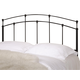 Coaster Full/Queen Metal Headboard Only in Black 300190QF