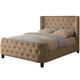 Coaster Tan Velvet Queen Upholstered Bed 300248Q