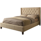 Coaster Tan Queen Upholstered Bed 300332Q