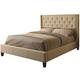 Coaster Tan King Upholstered Bed 300332KE
