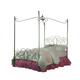 Standard Furniture Princess Metal Canopy  Twin Bed in Silver Nickel 90011