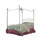 Standard Furniture Princess Metal Canopy Full Bed in Silver Nickel 90013