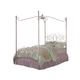 Standard Furniture Princess Metal Canopy Full Bed in Pink Nickel 90003