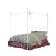 Standard Furniture Princess Metal Canopy Full Bed in White Nickel 90033