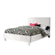 Standard Furniture Young Parisian Upholstered Full Bed in White Shimmer 65196