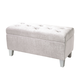 Standard Furniture Young Parisian Storage Bench in White Shimmer 65181