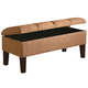 Coaster Lewis Upholstered Storage Bench in Soft Tan 300348