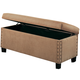 Coaster Lewis Upholstered Storage Bench in Soft Tan 300368