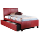 Standard Furniture New York Upholstered Full Trundle Bed in Red 93993
