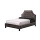 Standard Furniture Wilshire Boulevard Upholstered King Platform Bed in Grey Velvet 99663