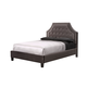 Standard Furniture Wilshire Boulevard Upholstered Queen Platform Bed in Grey Velvet 99653
