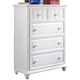 Samuel Lawrence Furniture SummerTime Drawer Chest in Bright White 8466-440