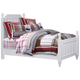Samuel Lawrence Furniture SummerTime Twin Poster Bed in Bright White