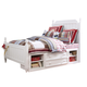 Samuel Lawrence Furniture SummerTime Twin Poster Bed with Underbed Storage in Bright White