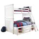 Samuel Lawrence Furniture SummerTime Twin/Full Bunk Bed with Underbed Storage in Bright White
