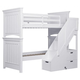 Samuel Lawrence Furniture SummerTime Twin/Twin Bunk Bed with Steps in Bright White