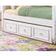 Samuel Lawrence Furniture SummerTime Trundle Storage Unit in Bright White 8466-801