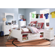 Samuel Lawrence Furniture SummerTime 4-Piece Poster Bedroom Set with Underbed Storage in Bright White