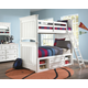 Samuel Lawrence Furniture SummerTime 4-Piece Bunk Bedroom Set with Underbed Storage in Bright White