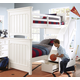 Samuel Lawrence Furniture SummerTime 4-Piece Twin/Twin Bunk Bedroom Set with Steps in Bright White