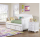 Samuel Lawrence Furniture SummerTime 4-Piece Day Bedroom Set with Trundle Storage Unit in Bright White