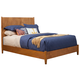Alpine Furniture Flynn Queen Panel Bed in Acorn 966-01Q
