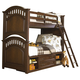 Samuel Lawrence Furniture Expedition Twin/Twin Bunk Bed with Underbed Storage in Cherry