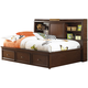 Samuel Lawrence Furniture Expedition Lounge Bed with Trundle Storage Unit in Cherry