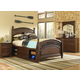 Samuel Lawrence Furniture Expedition 4-Piece Twin Poster Bedroom Set with Underbed Storage in Cherry