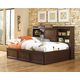 Samuel Lawrence Furniture Expedition 4-Piece Lounge Bedroom Set with Trundle Storage Unit in Cherry