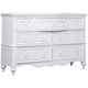 Samuel Lawrence Furniture SweetHeart Drawer Dresser in Bright White 8470-410