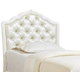 Samuel Lawrence Furniture SweetHeart Twin Upholstered Headboard in Bright White 8470-634