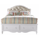 Samuel Lawrence Furniture SweetHeart Full Upholstered Bed with Storage Footboard in Bright White