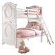 Samuel Lawrence Furniture SweetHeart Twin/Full Bunk Bed in Bright White