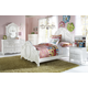 Samuel Lawrence Furniture SweetHeart 4-Piece Panel Bedroom Set in Bright White