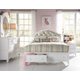 Samuel Lawrence Furniture SweetHeart 4-Piece Upholstered Bedroom Set with Storage Footboard in Bright White