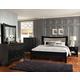 Standard Furniture Memphis Sleigh Bedroom Set in Black Paint