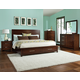 Standard Furniture Metro Platform Bedroom Set in Dark Merlot