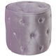Standard Furniture Young Parisian Round Upholstered Ottoman Stool in Lavander 65191