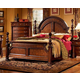 Fairfax Home Furnishings Bainbridge King Traditional Arched Poster Bed in Rich Brown