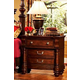 Fairfax Home Furnishings Bainbridge Traditional 3 Drawer Nightstand in Rich Brown - 1118-01