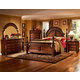 Fairfax Home Furnishings Bainbridge 4-piece Traditional Arched Poster Bedroom Set in Rich Brown - 1118