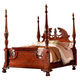 Fairfax Home Furnishings Buckingham Queen Traditional Poster Bed in Rich Brown
