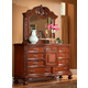 Fairfax Home Furnishings Buckingham Landscape Mirror in Rich Brown - 1121-02