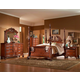 Fairfax Home Furnishings Buckingham 4-piece Traditional Poster Bedroom Set in Rich Brown - 1121